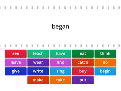 Irregular Verbs 2 forms NC1.2