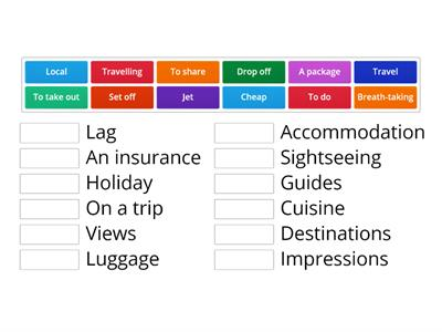 Travelling collocations