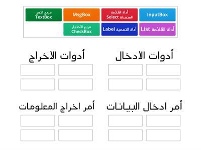 أوراق عمل لأدوات البرمجمة