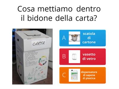 Impariamo a fare la raccolta differenziata