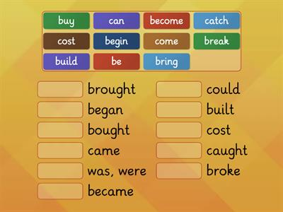Past Simple Irregular verbs 1