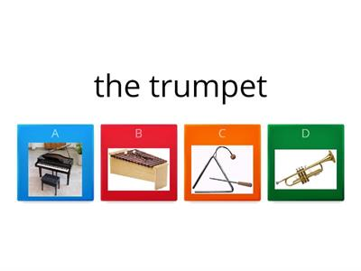 Quiz Musical Instruments (matching activity)