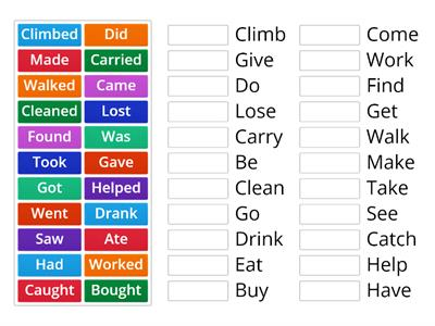 KB4 - Past Verbs (Regular & Irregular)