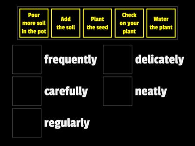 Plant Instructions and Adverbs