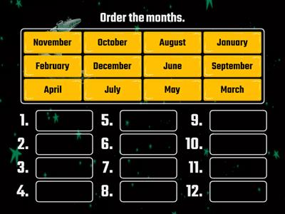Months of the year 4th