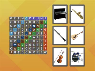 Find the instruments :) (wordsearch, LINK IV, U4)
