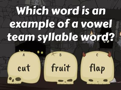 Vowel Team Syllable Quiz