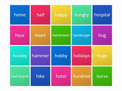 Words which start with H