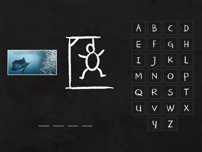 sea animals hangman