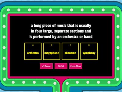 Root Word Phon Definition Game Show