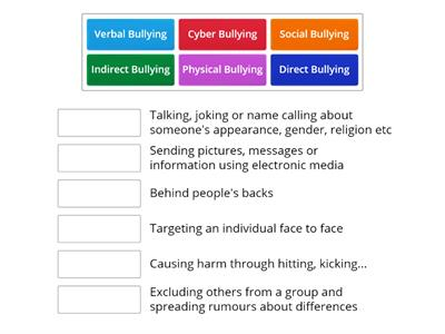 Anti bullying matching game