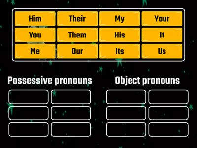 object pronouns vs posessive pronouns