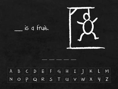 Me3a Sci - Fruits and vegetables - hangman