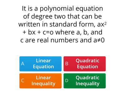 Illustrations of Quadratic Equations