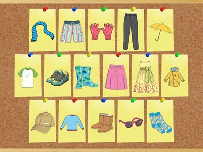 Unit 5: Clothes - Vocabulary