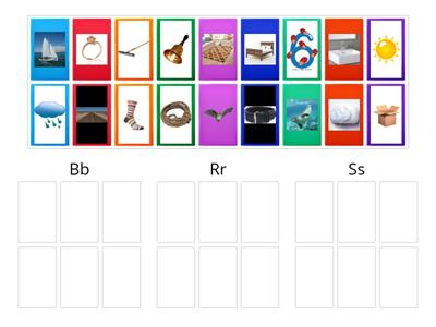 Picture Sort for B, R, S