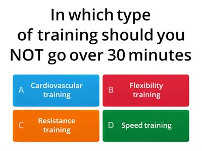 Types of training in sport