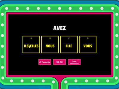 VERBE AVOIR PRESENT con gameshow quiz
