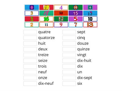 S1 French numbers 1-20
