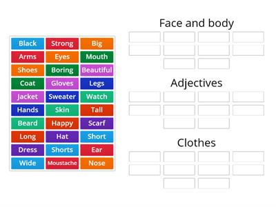 Body parts and clothes