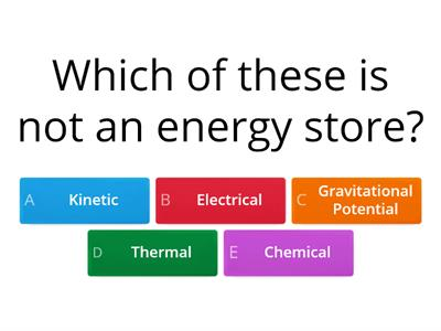 Physics 1 Energy Revision