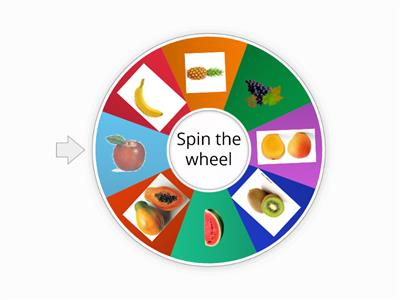 Spin the wheel - fruits and veggies