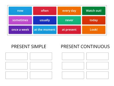 PRESENT SIMPLE AND CONTINUOUS EXPRESSIONS