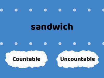 Countable / uncountable