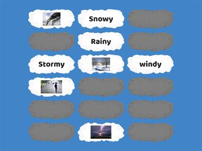 Memory game about weather