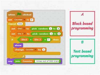 Block Based programming