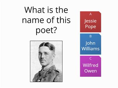 Wilfred Owen and Poetic Technique Quiz