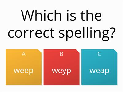 quiz alternate spellings