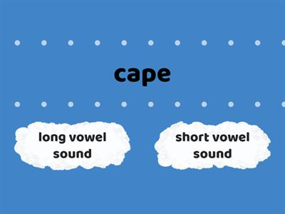 Long or short vowel sounds 2