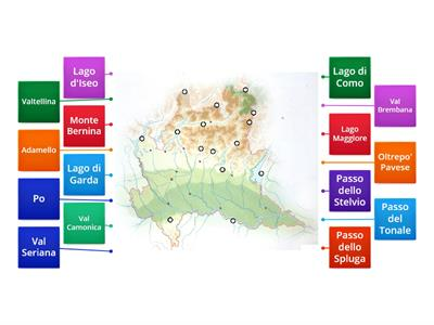 La Cartina Fisica Della Lombardia.Lombardia Risorse Per L Insegnamento