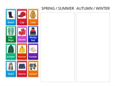 Clothes and seasons  (Categories)