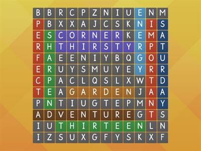 Wordsearch - R Controlled Vowels