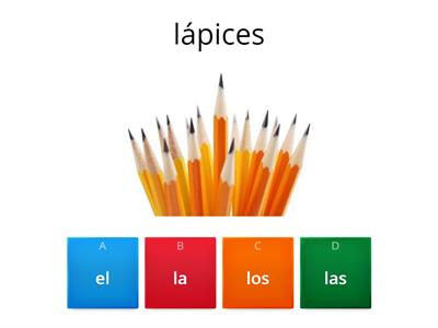 School Supplies (Definite Articles)