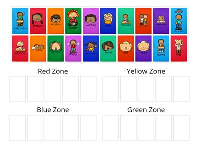 Zones of Regulation Sort