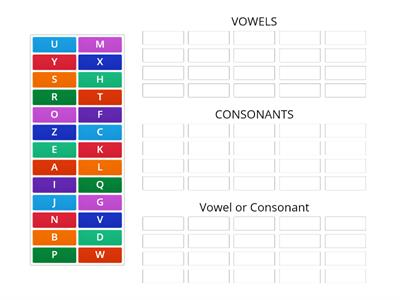 vowels and consonnants OR BOTH