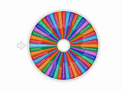 Power and Conflict Knowledge Recall Question Wheel