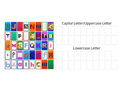 Letter Sort Uppercase and Lowercase Letters