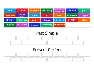 Copy of Present Perfect Past Simple