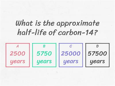 carbon dating quiz