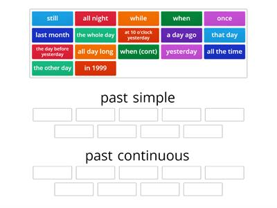 past simple/past continuous