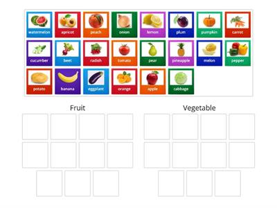 Fruit and Vegetables Level 1