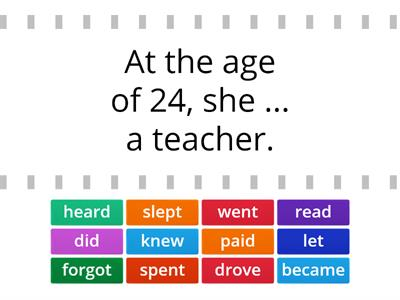 Past simple, irregular verbs - 6th grade