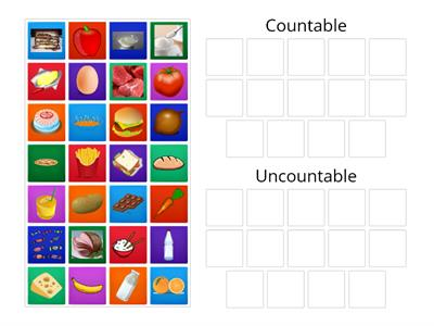Countable and uncountable (food)