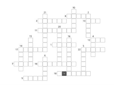 Clothes  and accessories crossword (translation)