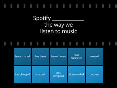 Spotify (Present Perfect or Past Simple)