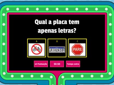 Quiz  do Alfabeto: vogal e consoante